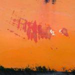 Photo, photographie de détail de coque de bateau du Finistère, orange, rouge, noir @ Christophe Pluchon