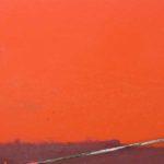 Photo, photographie de détail de coque de bateau du Finistère, orange, rouge, bordeaux, blanc, vert, noir @ Christophe Pluchon